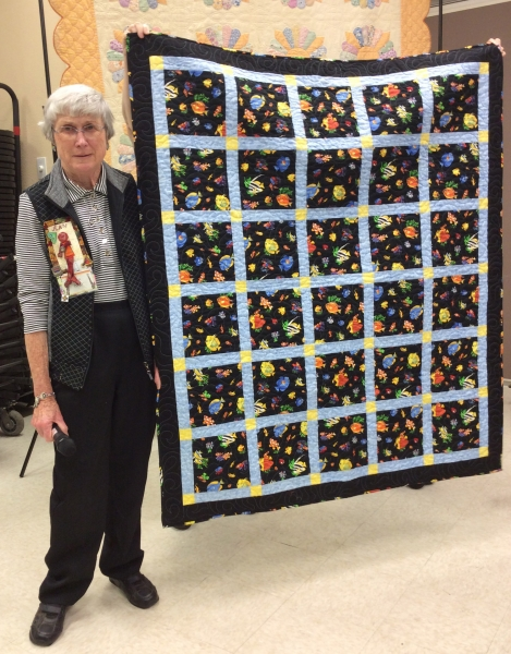 Jean Nagy - Quilt made by Ann Nagy, daughter of Jean, for Angels Flight