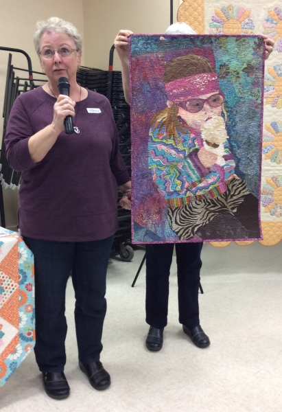 Elaine Swatniki - I Can Dress Myself - quilted by Gloria Mauno; Project from Susan Carlson class.