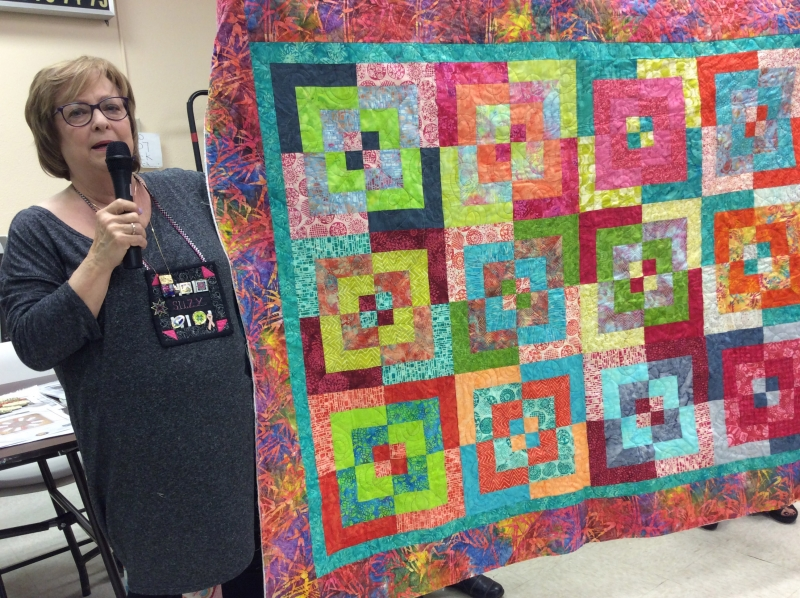 Suzy Weinbach - Jelly Roll Jive - Peggy Martin class, DSD Quilt Show