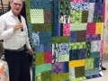 Michael Dwyer - Fabric Frenzy - Turning Twent Patter, All fabric from a raffle!